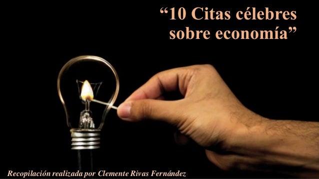 10 Citas Célebres Sobre Economía