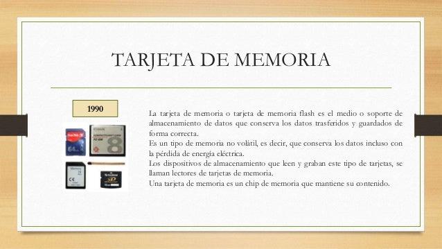 tarjetas de memoria historia