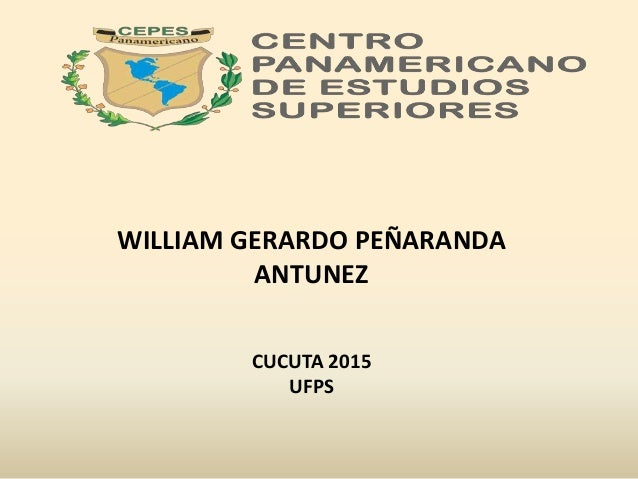 WILLIAM GERARDO PEÑARANDA ANTUNEZ CUCUTA 2015 UFPS