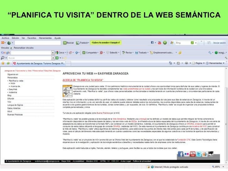 """"""" PLANIFICA TU VISITA"""" DENTRO DE LA WEB SEMÁNTICA"""