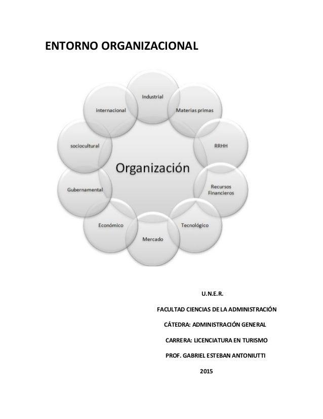 ENTORNO ORGANIZACIONAL U.N.E.R. FACULTAD CIENCIAS DE LA ADMINISTRACIÓN CÁTEDRA: ADMINISTRACIÓN GENERAL CARRERA: LICENCIATU...