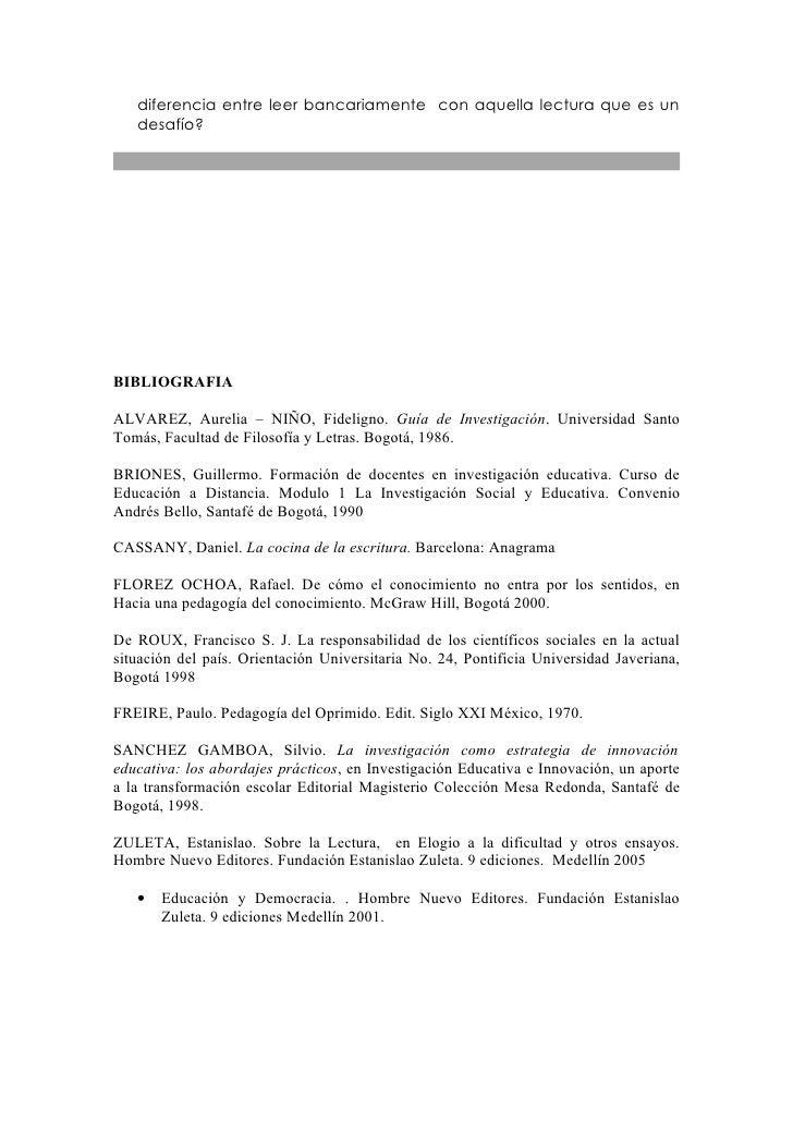 Ejercicio 2 la teoria y la escritura en investigacionl - La cocina de la escritura ...