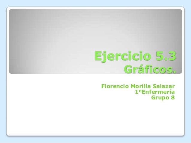 Ejercicio 5.3Gráficos.Florencio Morilla Salazar1ºEnfermeríaGrupo 8