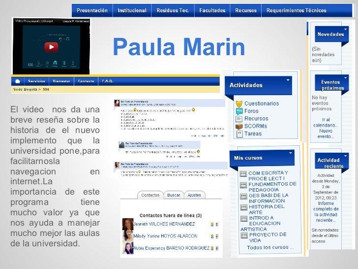 Paula MarinEl video nos da unabreve reseña sobre lahistoria de el nuevoimplemento que launiversidad pone,parafacilitarnosl...