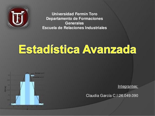 Universidad Fermín Toro Departamento de Formaciones Generales Escuela de Relaciones Industriales Integrantes: Claudia Garc...