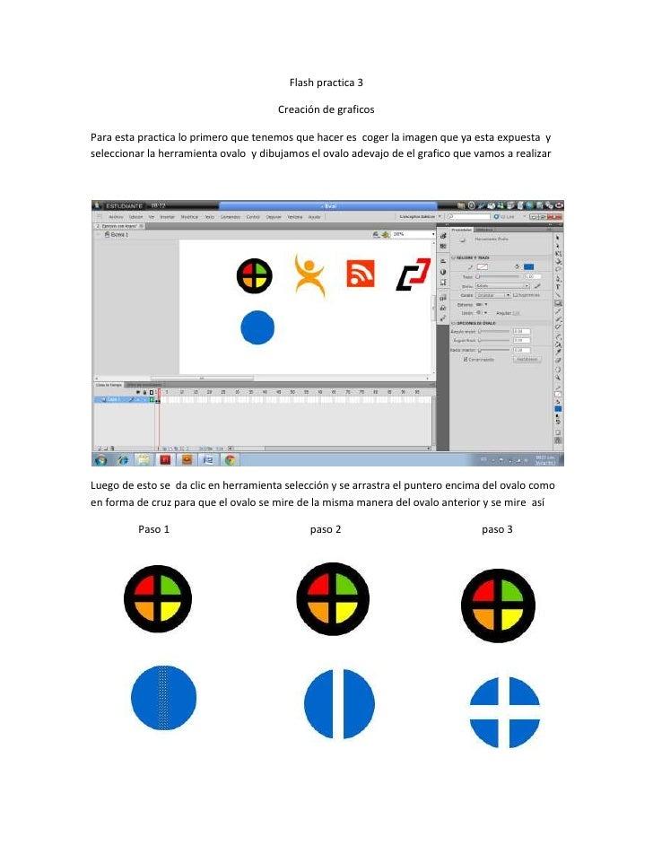 Flash practica 3                                       Creación de graficosPara esta practica lo primero que tenemos que h...