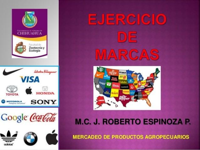 M.C. J. ROBERTO ESPINOZA P. MERCADEO DE PRODUCTOS AGROPECUARIOS