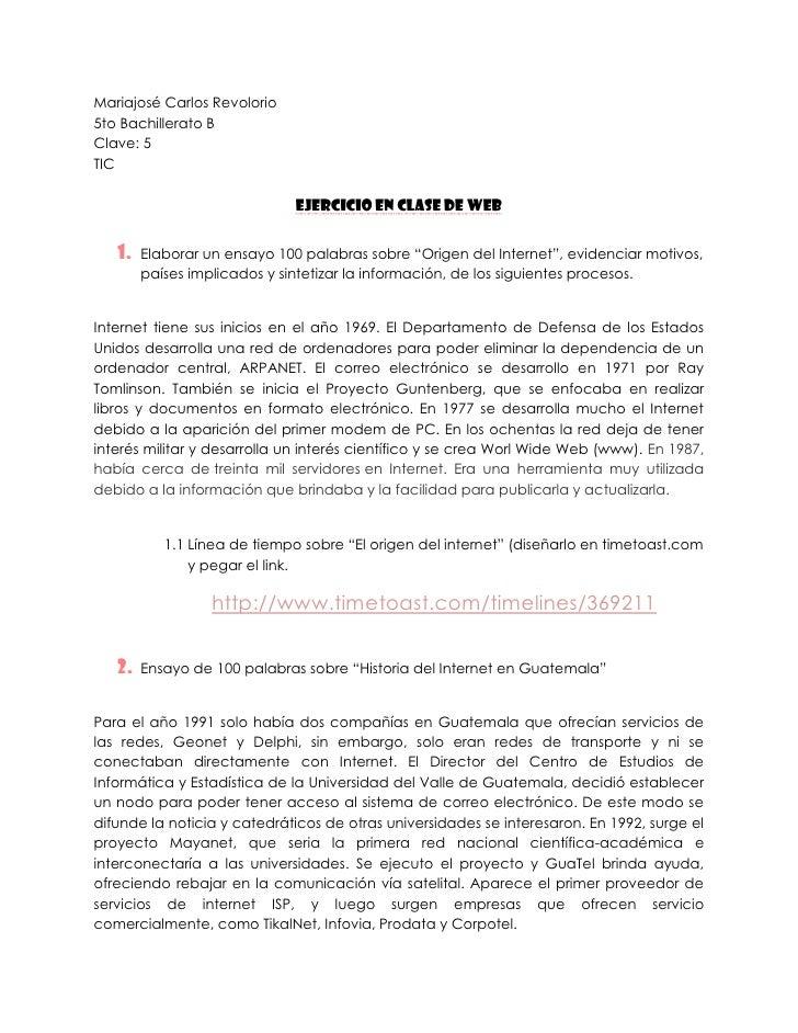 Mariajosé Carlos Revolorio5to Bachillerato BClave: 5TIC                              Ejercicio en clase de Web   1.   Elab...