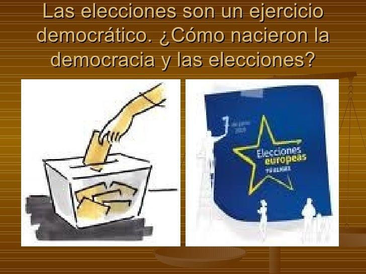 Las elecciones son un ejercicio democrático. ¿Cómo nacieron la democracia y las elecciones?