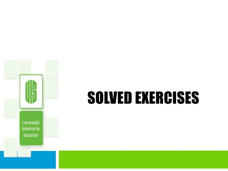 SOLVED EXERCISES
