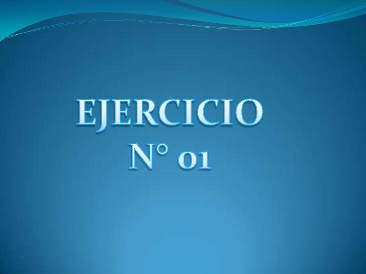 EJERCICIO N° 01<br />