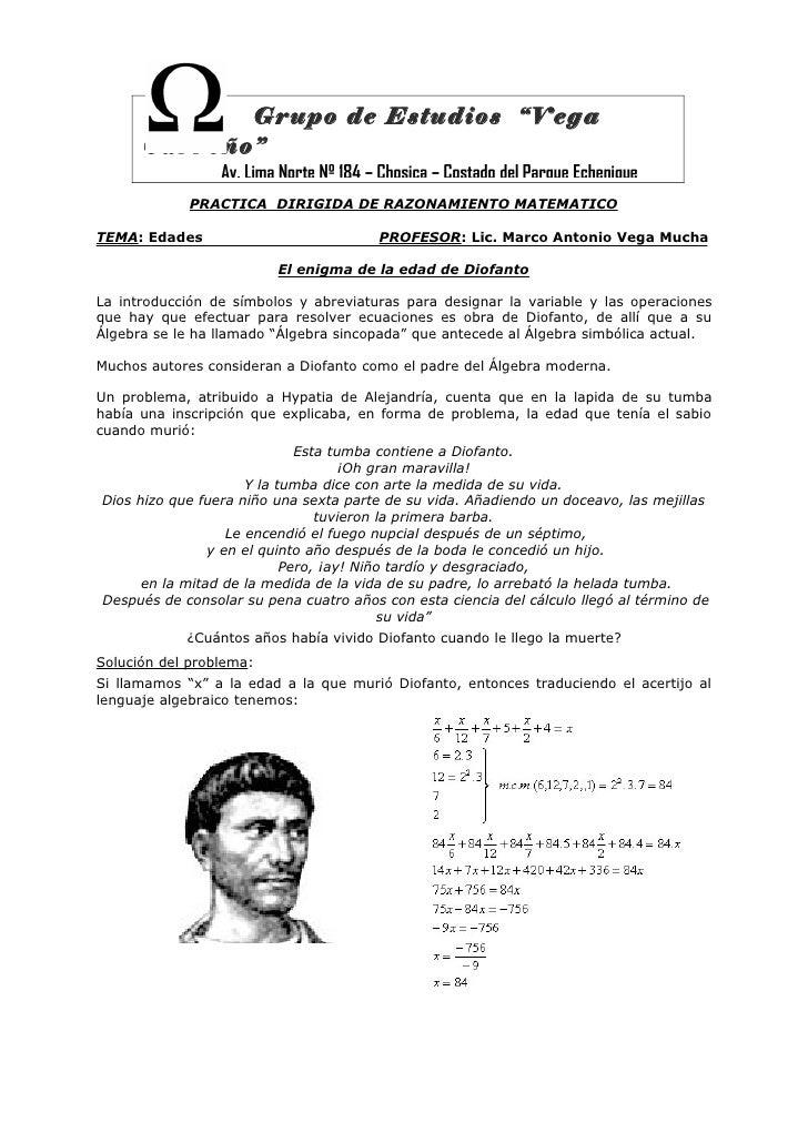 "Grupo de Estudios ""Vega      Carreño""                 Av. Lima Norte Nº 184 – Chosica – Costado del Parque Echenique      ..."