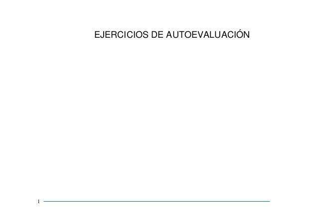 EJERCICIOS DE AUTOEVALUACIÓN 1