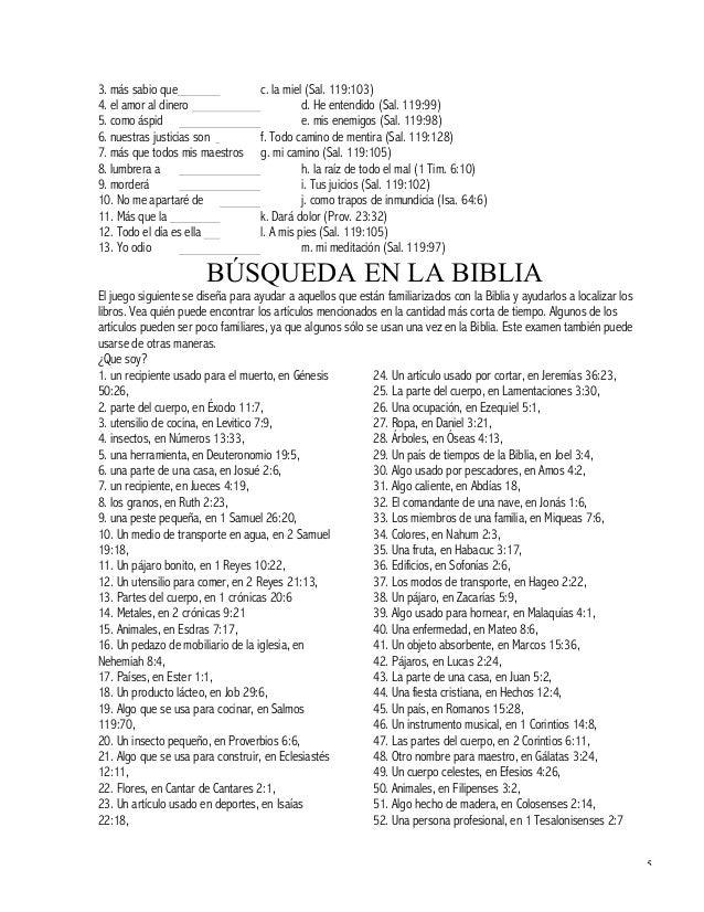 Ejercicios Biblicos I