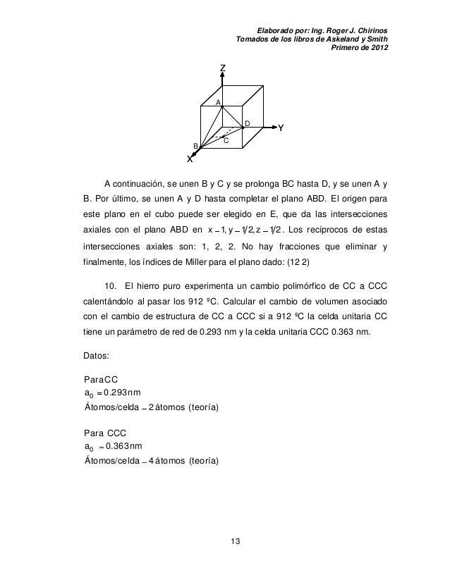 Ejercicios de-estructura-cristalina resueltos