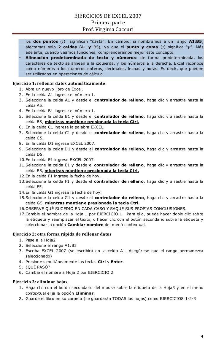 Ejercicios de-excel-2007-primera-parte