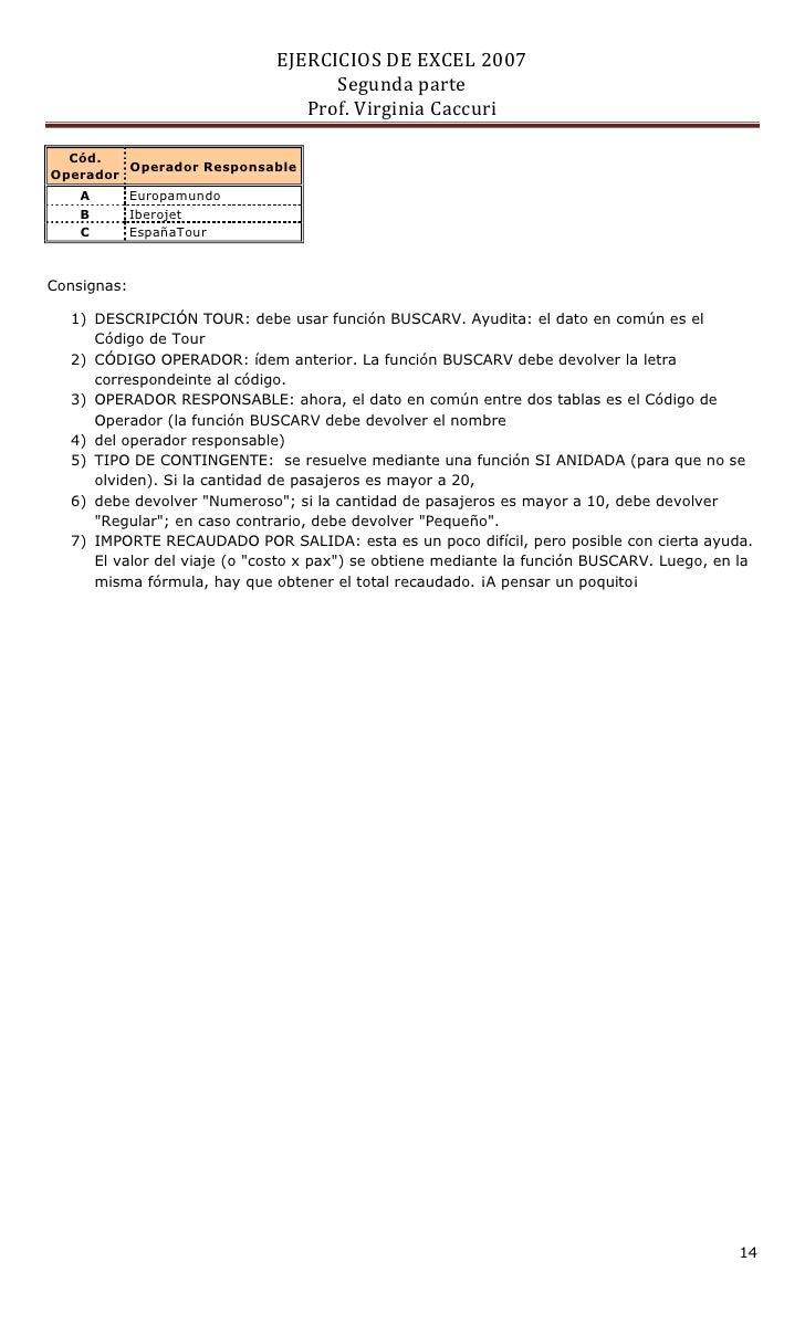 ejercicios de excel 2007 segunda parte pdf resueltos