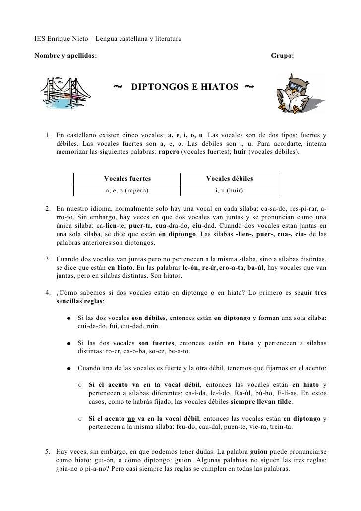 IES Enrique Nieto – Lengua castellana y literaturaNombre y apellidos:                                                     ...