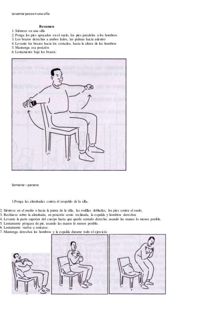 Levantar peso en una silla  Resumen  1. Siéntese en una silla  2. Ponga los pies apoyados en el suelo, los pies paralelos ...