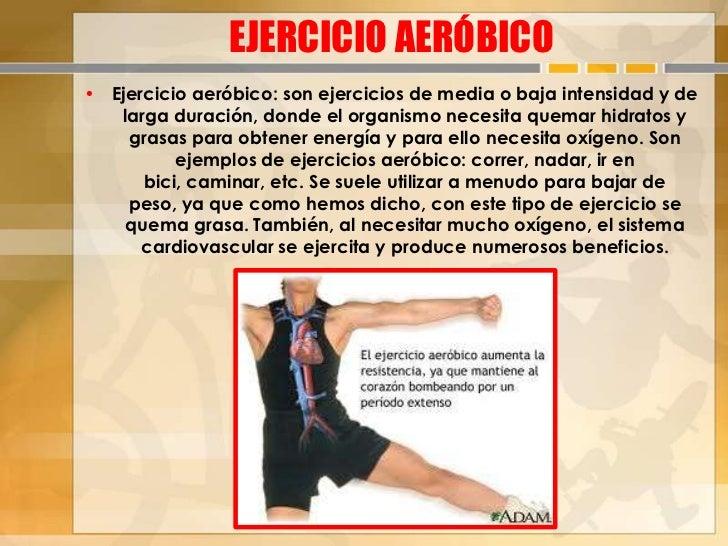 Ejercicios anaeróbicos y aeróbicos presentarlo