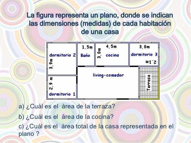 Ejercicios area y perimetro poligonos for Cual es el techo mas economico para una casa