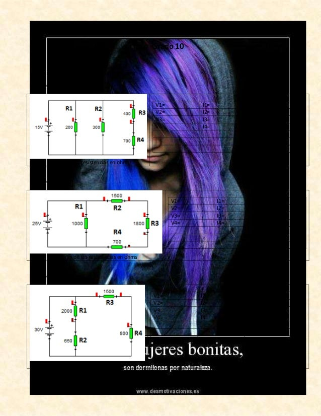 EJERCICIOS CIRCUITO MIXTO Grado 10 Simplificar los siguientes ejercicios: Número 1 Valores de las resistencias en ohms V1=...