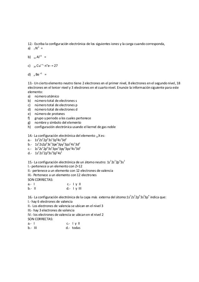 Ejercicios configuracin electrnica 3 12 urtaz Images
