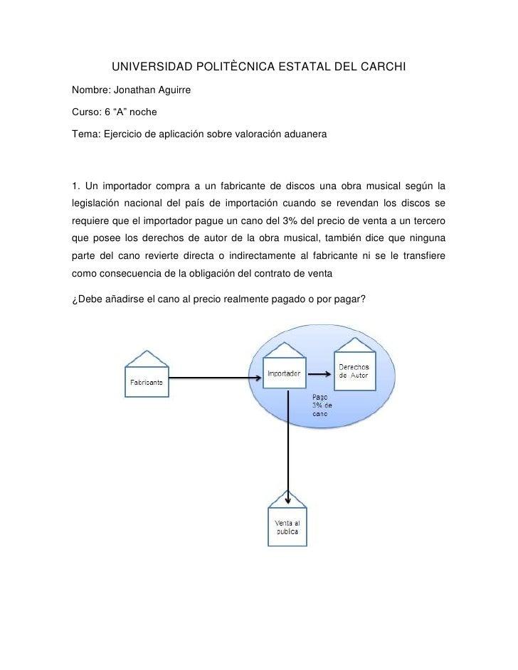 """UNIVERSIDAD POLITÈCNICA ESTATAL DEL CARCHINombre: Jonathan AguirreCurso: 6 """"A"""" nocheTema: Ejercicio de aplicación sobre va..."""
