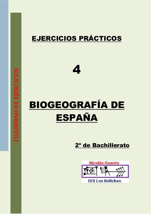 EJERCICIOS PRÁCTICOS                                  4CUADERNO DE EJERCICIOS                         BIOGEOGRAFÍA DE     ...