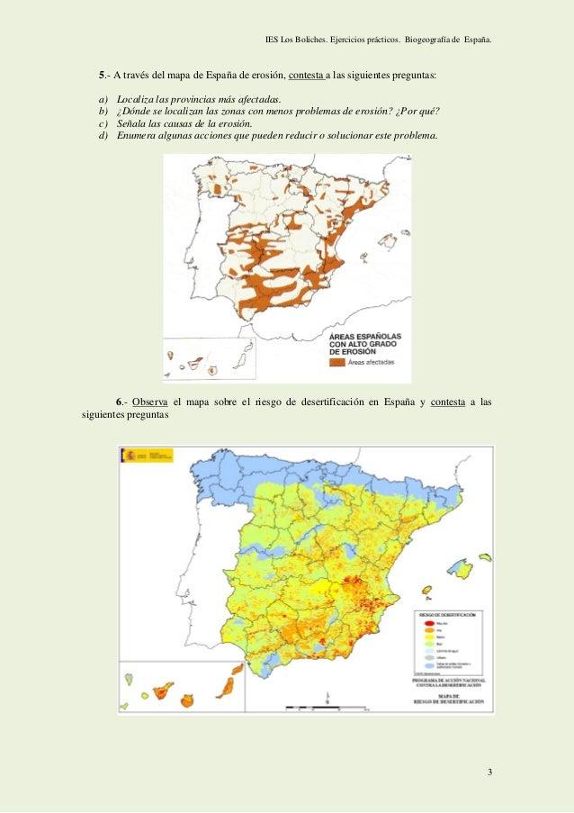 Ejercicios de BIOGEOGRAFÍA y exámenes PAU Andalucía. Slide 3