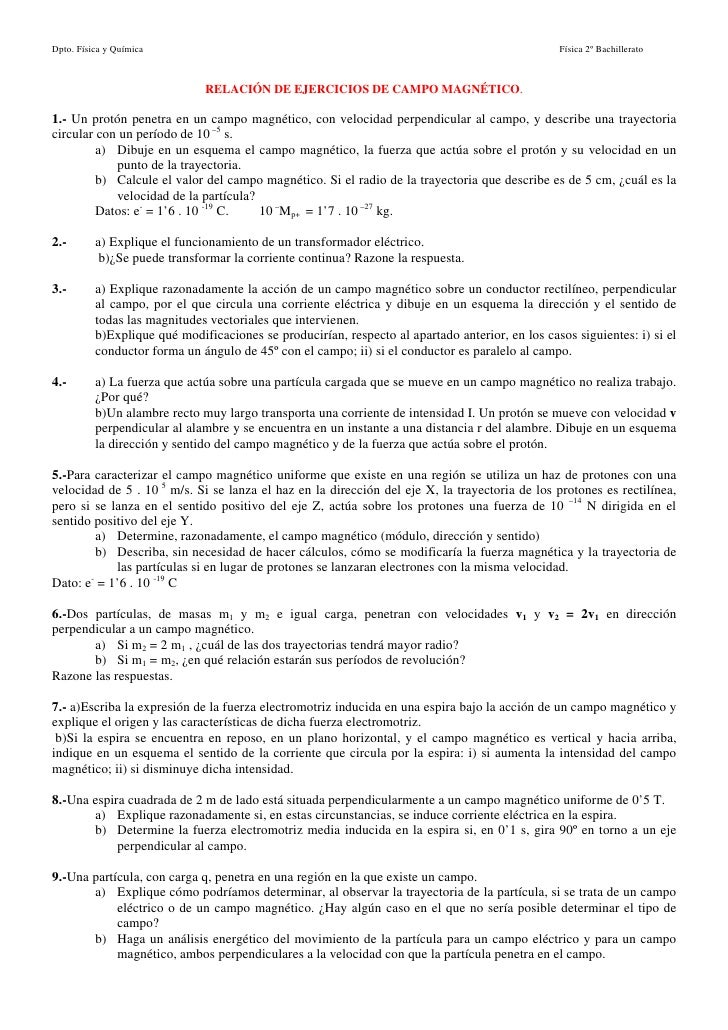 Dpto. Física y Química                                                                           Física 2º Bachillerato   ...