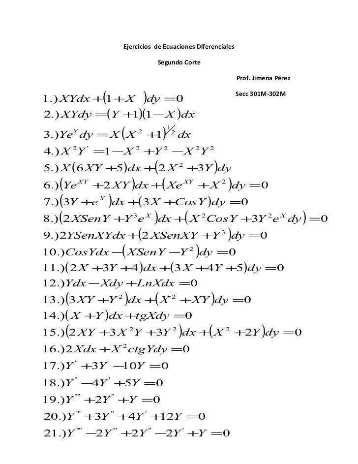 ecuaciones diferenciales essay Nociones sobre teor´ıa cualitativa de ecuaciones diferenciales ordina- rias 3 21   to por un sistema de ecuaciones diferenciales ordinarias que dependen de  parámetros ecológicos  an essay on the principle of population j johnson.