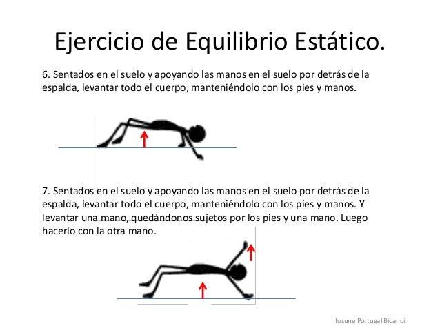 Ejercicio de Equilibrio Estático.Iosune Portugal Bicandi6. Sentados en el suelo y apoyando las manos en el suelo por detrá...