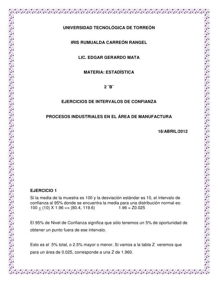 UNIVERSIDAD TECNOLÓGICA DE TORREÓN                     IRIS RUMUALDA CARREÓN RANGEL                         LIC. EDGAR GER...