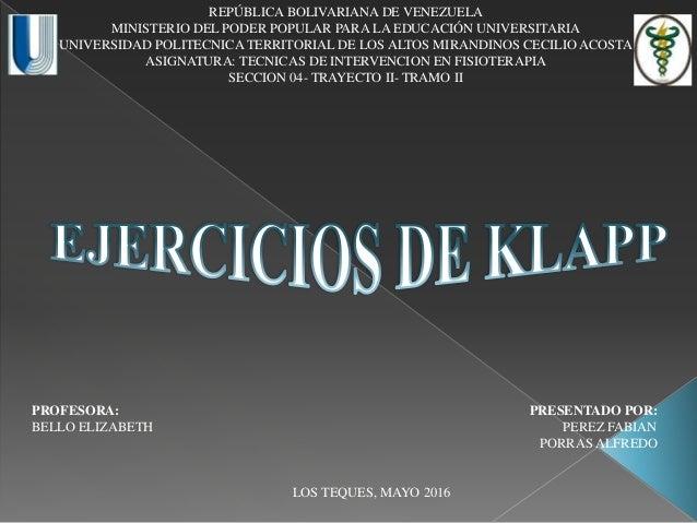 REPÚBLICA BOLIVARIANA DE VENEZUELA MINISTERIO DEL PODER POPULAR PARA LA EDUCACIÓN UNIVERSITARIA UNIVERSIDAD POLITECNICA TE...