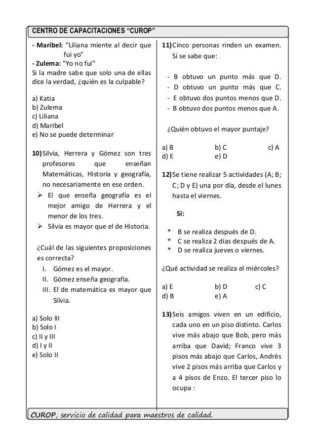 Ejercicios de razonamiento logico para nombramiento docente 2015 Slide 3