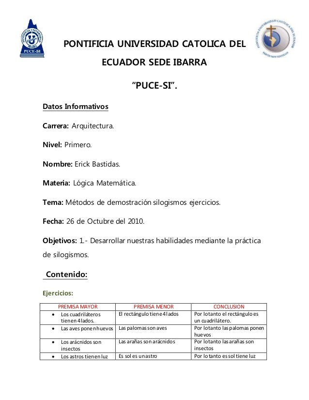 """PONTIFICIA UNIVERSIDAD CATOLICA DEL ECUADOR SEDE IBARRA """"PUCE-SI"""". Datos Informativos Carrera: Arquitectura. Nivel: Primer..."""