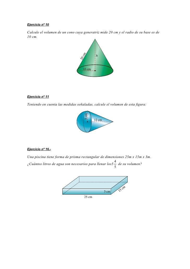 Pr ctica de vol menes for Cuantos litros de agua caben en una piscina