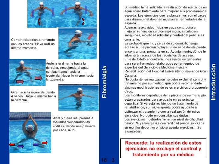 Columna vertebral for Ejercicios en la piscina