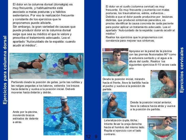 Ejercicios en agua para la espalda for Ejercicios en la piscina