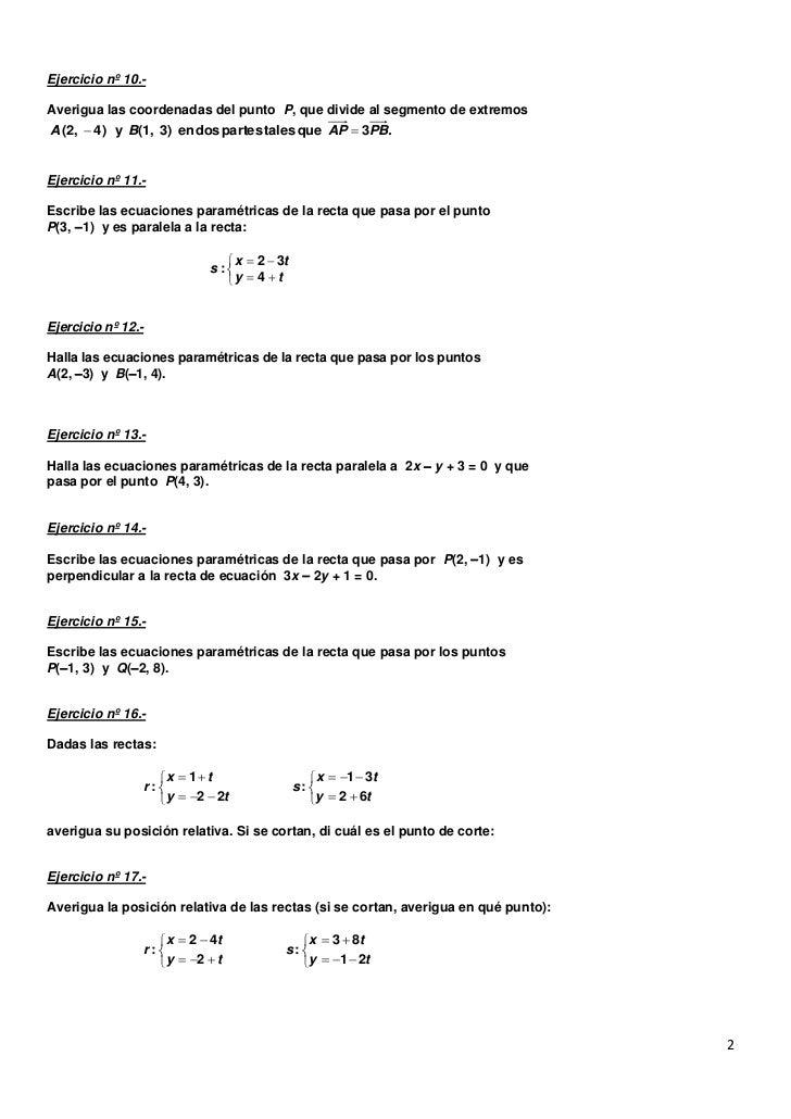 Ejercicios geometria analitica Slide 2