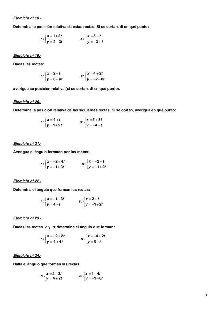 Ejercicios geometria analitica Slide 3