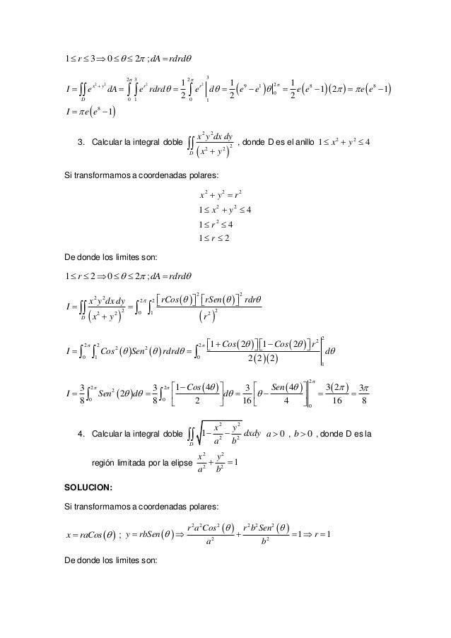 ejercicios resueltos de integrales dobles  Slide 2