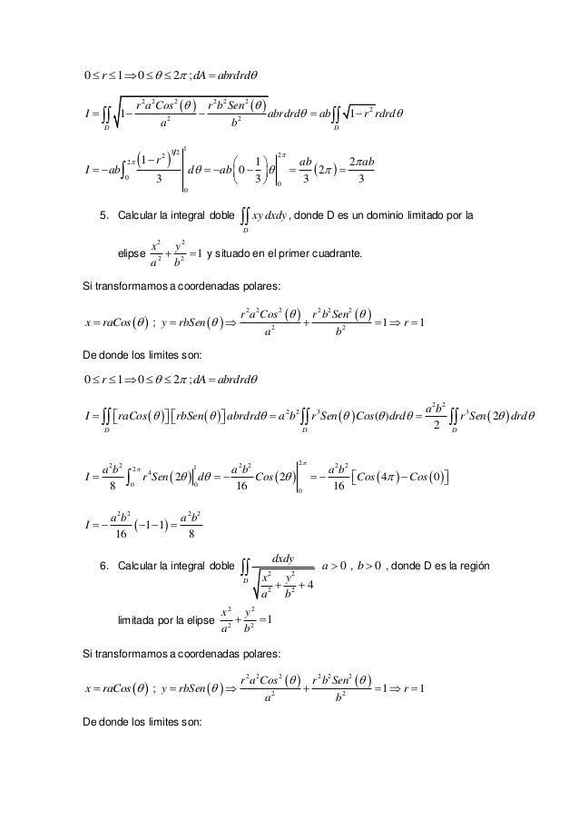ejercicios resueltos de integrales dobles  Slide 3