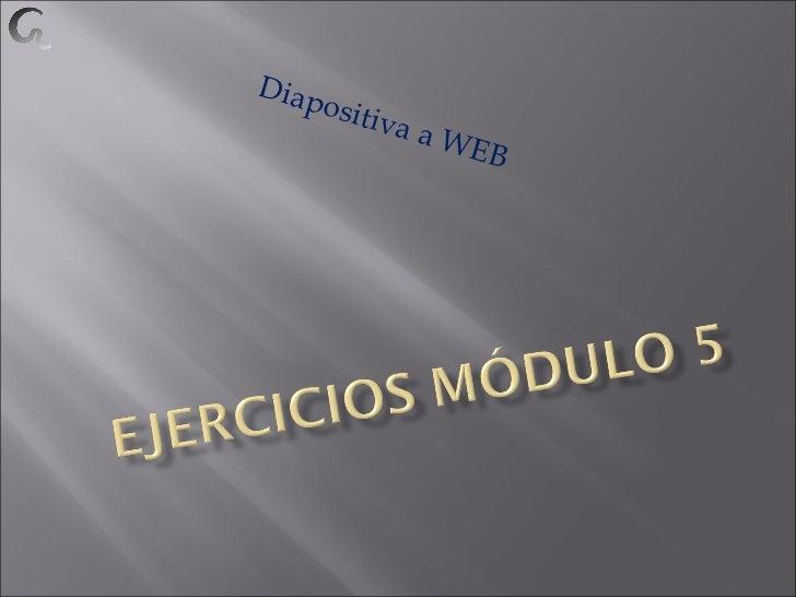 Diapositiva a WEB
