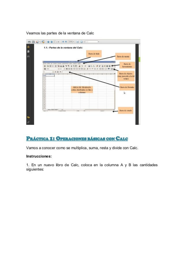 Ejercicios openoffice calc Slide 2