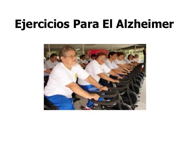 Ejercicios Para El Alzheimer