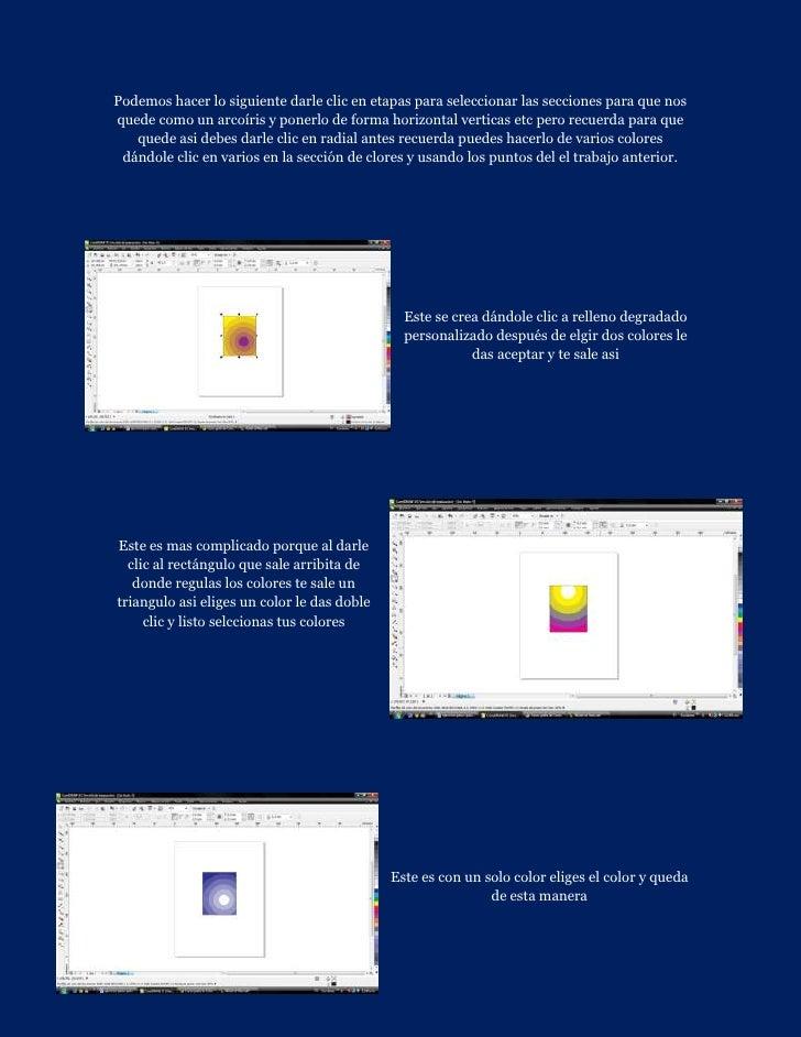 Podemos hacer lo siguiente darle clic en etapas para seleccionar las secciones para que nosquede como un arcoíris y ponerl...