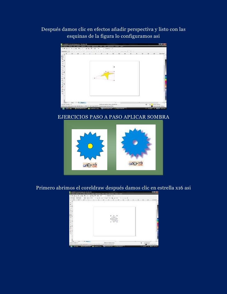 Después damos clic en efectos añadir perspectiva y listo con las            esquinas de la figura lo configuramos asi     ...