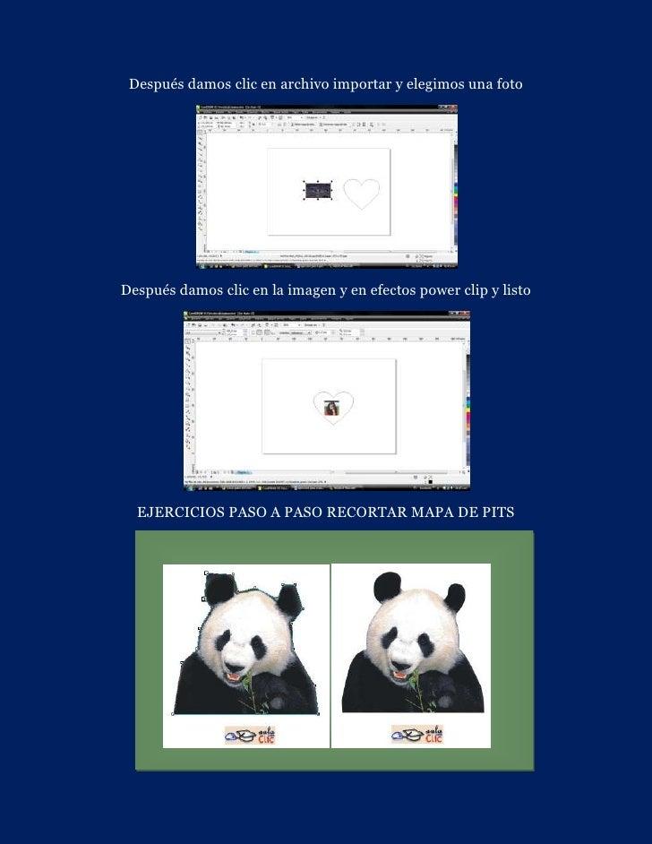 Después damos clic en archivo importar y elegimos una fotoDespués damos clic en la imagen y en efectos power clip y listo ...